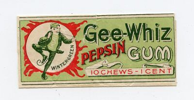 1898 Frank Fleer & Co. Gee-Whiz Pepsin Chewing Gum Wrapper & Box RARE Topps