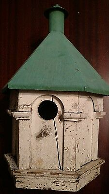 SWEET Quality Hand Crafted Architectural New England Antique Bird House