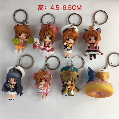 card captor sakura set of 8pcs manga model anime doll kkey chain key chains new