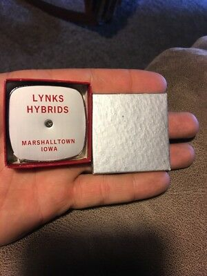 Lynks Hybrids Marshalltown Iowa Tape Measure Nos Advertising Corn Seed