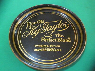 """Antique """"Fine Old Ky. Taylor"""" (Whiskey) advertising tray"""