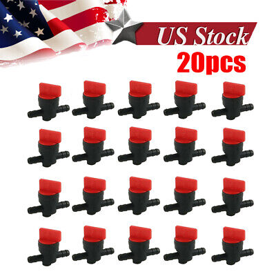 "10pcs 1/4"" InLine Straight Fuel Gas Cut-Off /Shut Outdoor Small Engine Valve"