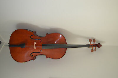Cello with bow and carry bag - full size