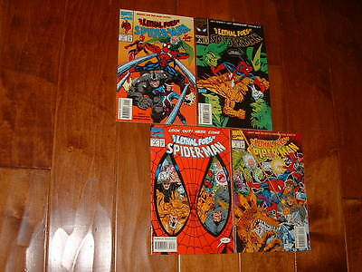 1993 Spiderman Lethal Foes 1 2 3 4 Full Set Excellent VF / NM Free Shipping