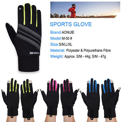 Outdoor Cycling Running Winter Full Fingers Gloves Screen Touch Gloves S