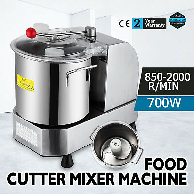 Food Cutter Mixer 9L Food Processor 850/2000 RPM Food Grinder Commercial