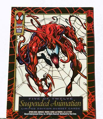 CARNAGE 1994 Spider-Man Suspended Animation Limit Edition Subset # 5 of 12 FLEER
