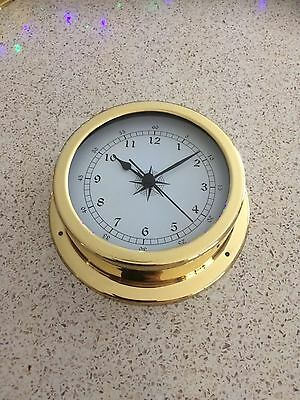 145mm Brass Clock.NEW