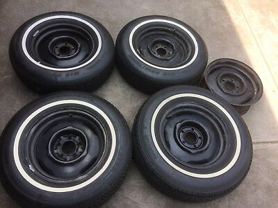 1960s 1970s 15 x 6 CHRYSLER DODGE PLYMOUTH MOPAR B AND C BODY steel wheels x 5