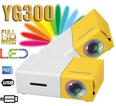 YG300 Mini Projector LED Home Teatro Video 1080P Proyector HDMI USB SD DVD PC ES