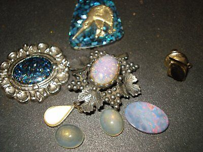 vintage estate bulk  jewellery of opal pces. 1900-1970s
