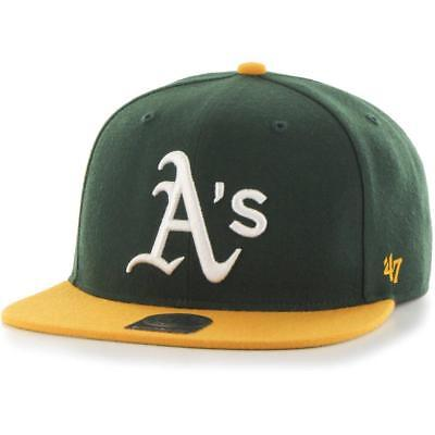 Oakland Athletics MLB Hat 2016 Sure Shot Hat 47 Brands Baseball Cap Dark Green
