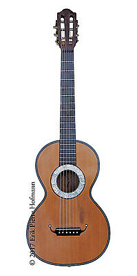 Antique French guitar by Cabasse Visnaire, Mirecourt c.1840