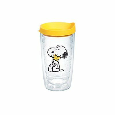 Tervis Peanuts Snoopy and Woodstock Tumbler with Yellow Lid 16-Ounce