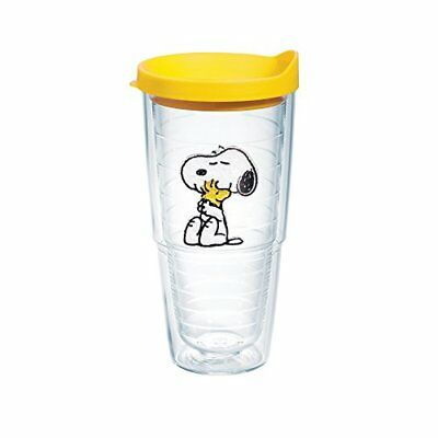 Tervis Peanuts Snoopy and Woodstock Tumbler with Yellow Lid 24-Ounce