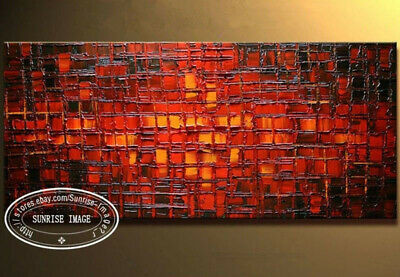 "YH775 44X20""Modern Palette Knife Textured Abstract Oil Painting canvas No Frame"