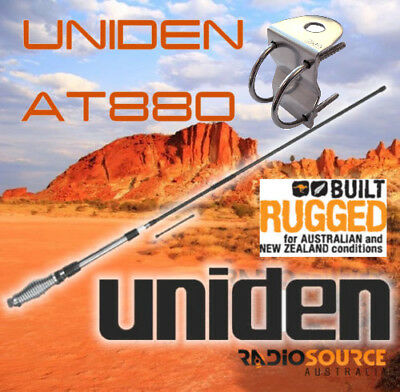 UNIDEN AT880 TWIN 6.6DBi+3DB+GME BULLBAR BRACKET FOR UHF CB  ANTENNA KIT