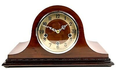 Enfield British Mahogany Westminster Whittington Mantle Clock