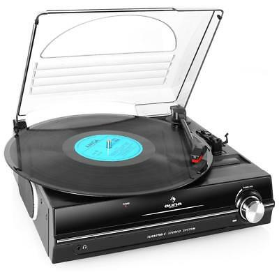 Auna 928 Classic Vinyl Record Player Home Stereo Speaker Sound Sys Belt Drive