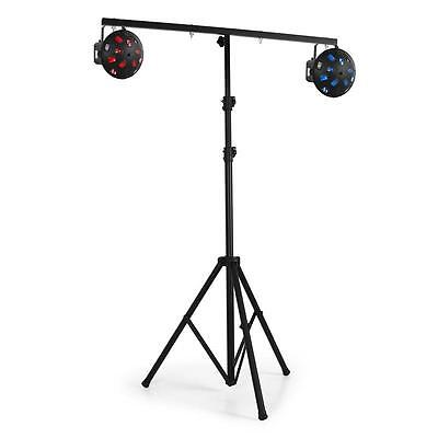 Brand New Lighting Stand Mobile Dj Lights 4 Fixing Points Light Tripod - Black