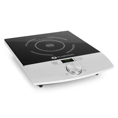 Single 1800W Induction Hotplate Hob Simple Operation Flat Compact Design Silver