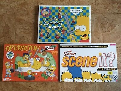 Simpsons Games Bundle All Complete Operation Scene It 3D Chess