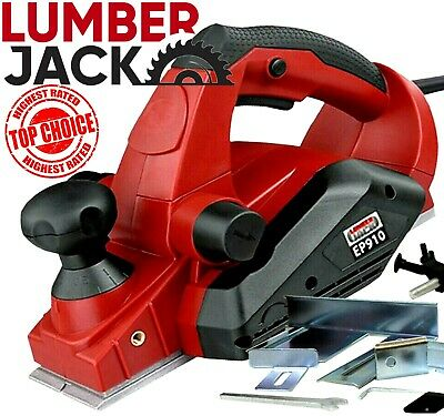 Lumberjack 850W 82mm Electric Heavy Duty Wood Planer with Fence & Dust Bag 240v