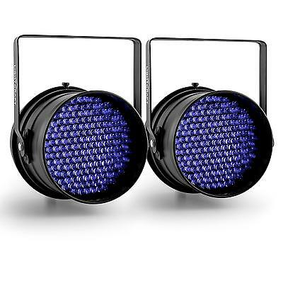 Disco Karaoke Party Par64 Spotlight Pair Led Uv Black Light Dj Strobe Automatic