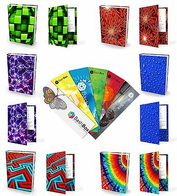 BashBox Book Sox Stretchable Jumbo Fabric Boys Book Covers Includes H2O, Cube, &