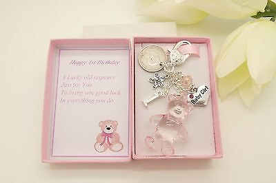 Babys First 1st Birthday Gift Teddy Bear SixpenceBaby GirlDaughter