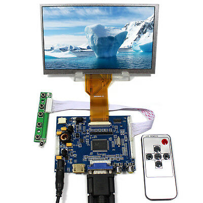 HDMI VGA 2AV Audio LCD Controller Board Remote 7inch 800x480 AT070TN92 LCD Panel