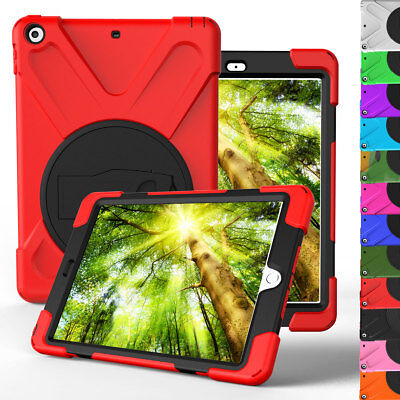 For iPad 9.7 Inch 2017 A1823 A1822 Rugged Stand Case Cover + Screen Protector