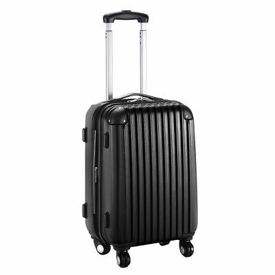 """GLOBALWAY 20"""" Expandable ABS Carry On Luggage Travel Bag Trolley Suitcase Black"""
