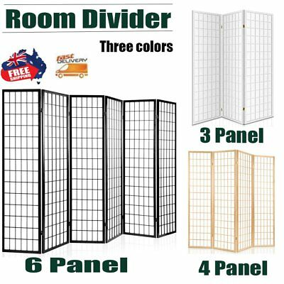 Folding Room Divider Panel Privacy Screen Stand Living Room Wooden Timber Decor