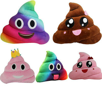 Amusing Cushion Emoji Smiley Emoticon Stuffed Plush Poo Shape Pillow Doll Toy US