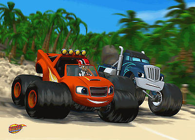 Unofficial BLAZE AND THE MONSTER MACHINES (5) *Glossy* A4 print Poster - Peppa