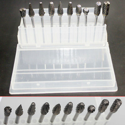 10pcs Tungsten Steel Dental Burs Lab Tooth Drill  2.35mm For Polisher Handpieces
