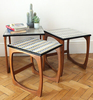 1960s nest of tables, retro nest of tables, mid century
