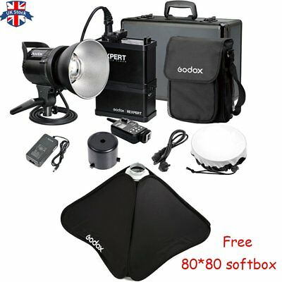 UK Godox RS600P 600W Li-ion Battery Portable Outdoor Flash With softbox Gift