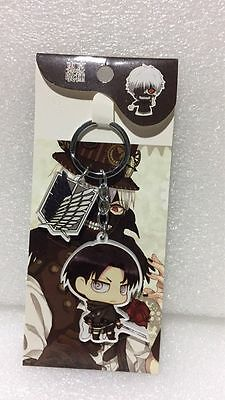 Attack on Titan Levi·Ackerman PVC Figure Keychain Key Ring Pendant