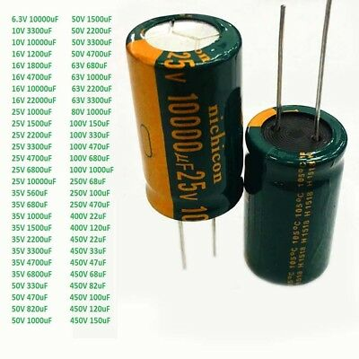 22uF-22000uF 6.3V-450V High Frequency LOW ESR Radial Electrolytic Capacitor 105C