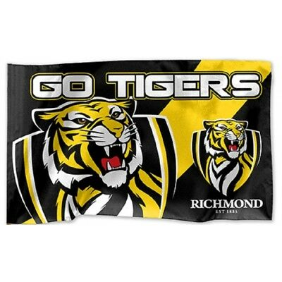 Richmond Tigers Official AFL Large Game Day Flag 60cm x 90cm FREE POST 60 x 90cm