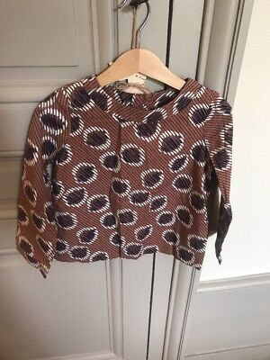 Bonpoint-Blouse 6 Ans-coton-marron
