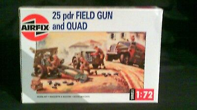 Airfix 1/72 Scale 25 Pdr Field Gun and Quad 1993