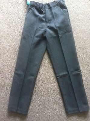 Bnwt Boys Back To School Grey Water Repellent Trousers Age 9-10 Years New