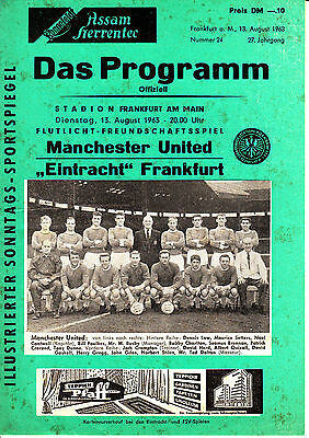 13.08.63 friendly Eintracht Frankfurt - Manchester United from Germany - England