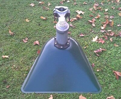 Old Vintage Industrial Outdoor Lamp Shade - Old Service Station Light Post Mount