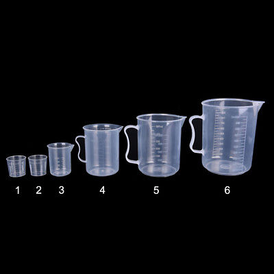 20/30/50/300/500/1000ML Plastic Measuring Cup Jug Pour Spout Surface Kitchen Too