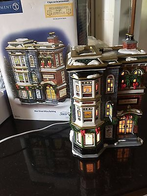 Dept 56 Snow Village - Main Street Office Building -Can Be Personalized; MINT
