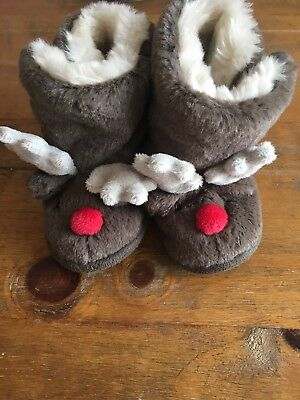 Little White Company Reindeer Slippers